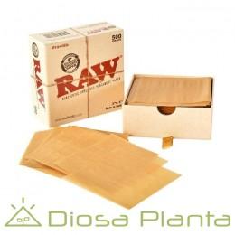 Raw papel pergamino para extracciones