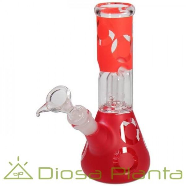 """Icebong de Cristal Rojo """"Retro Fever"""" con percolator 21cm"""