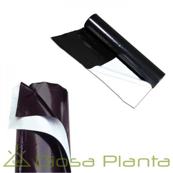 Plástico reflectante Negro / Blanco 125 micras (2x1m)