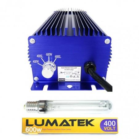 KIT Balastro + bombilla Lumatek Ultimate PRO 600W