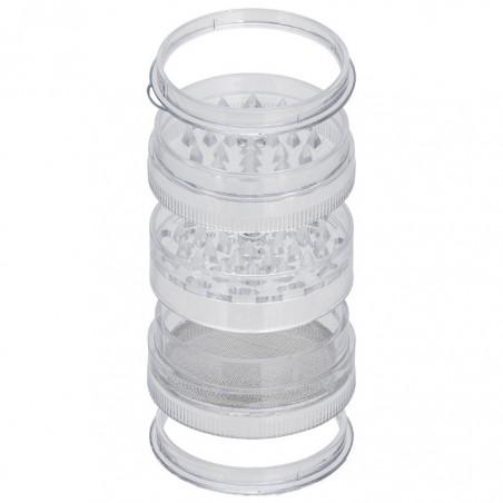 Grinder Polinator plástico acrílico 65 mm.