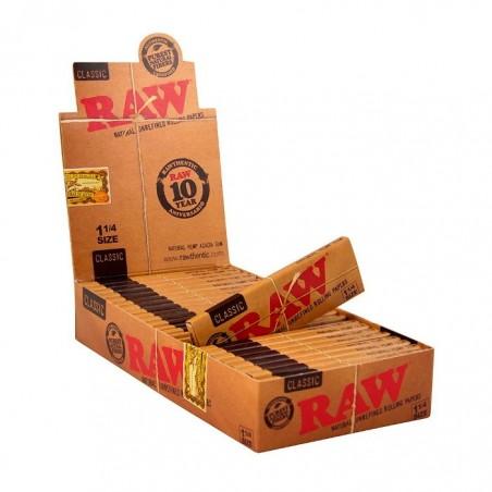 Caja 24 librillos papel Raw Classic 1 ¼